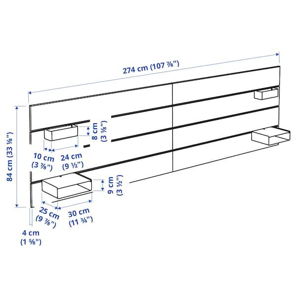 NORDLI Tête de lit, blanc, 180/193 cm