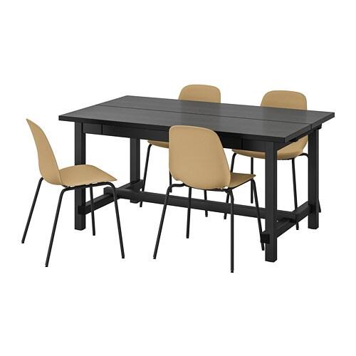Nordviken Leifarne Table Noir 4 ChaisesNoirBroringe Et Fc1JTlK