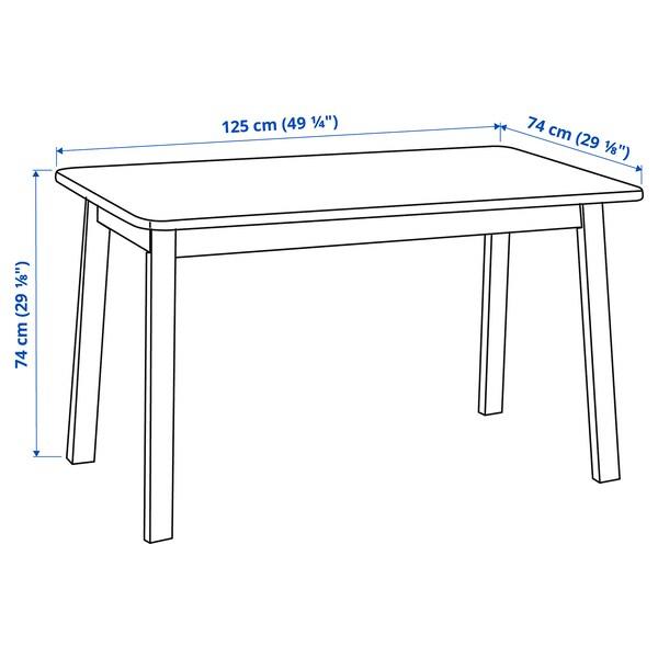 NORRÅKER Table, bouleau, 125x74 cm