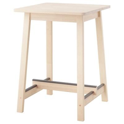 NORRÅKER Table de bar, bouleau, 74x74x102 cm