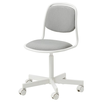 ÖRFJÄLL Chaise de bureau enfant, blanc/Vissle gris clair