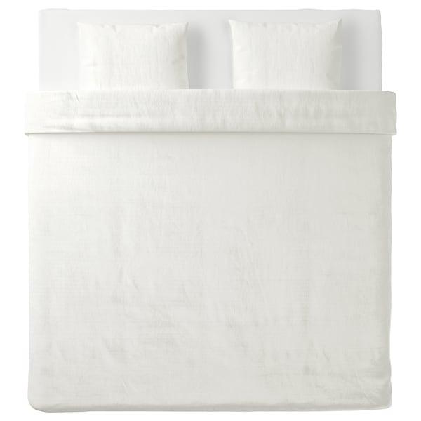 OFELIA VASS Housse de couette et 2 taies, blanc, 240x220/50x60 cm