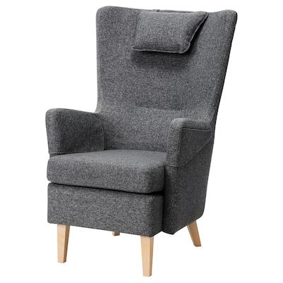 OMTÄNKSAM fauteuil Gunnared gris foncé 72 cm 88 cm 109 cm 18 cm 66 cm 49 cm 54 cm 49 cm