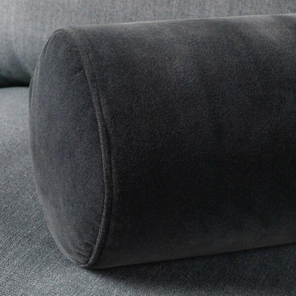 OMTÄNKSAM Coussin pour accoudoir, Djuparp gris foncé, 18 cm