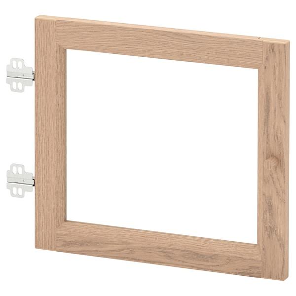OXBERG Porte vitrée, plaqué chêne blanchi, 40x35 cm
