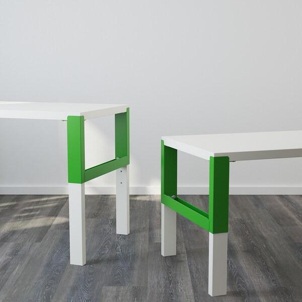 PÅHL Bureau, blanc/vert, 128x58 cm