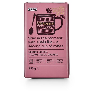 PÅTÅR Café moulu, torréfaction moyenne, Ouganda/grains 100 % arabica/certifié UTZ/bio