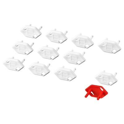 PATRULL obturateur de prise blanc 2.8 cm 3.5 cm 12 pièces