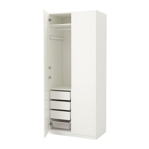 Pax armoire penderie 100x60x236 cm charni res standard ikea - Armoire penderie blanc ...