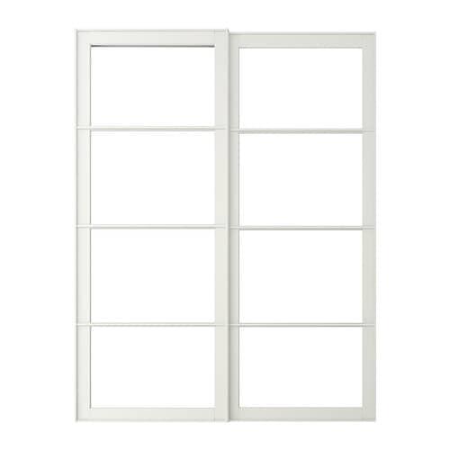 Pax cadre porte coulissante 2pces 150x201 cm ikea - Porte coulissante vitree ikea ...