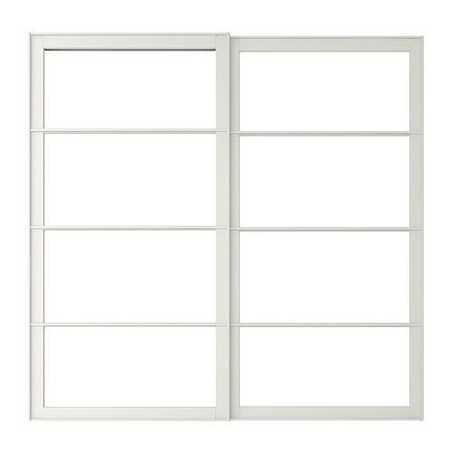 Pax cadre porte coulissante 2pces 200x201 cm ikea - Dimension cadre porte ...