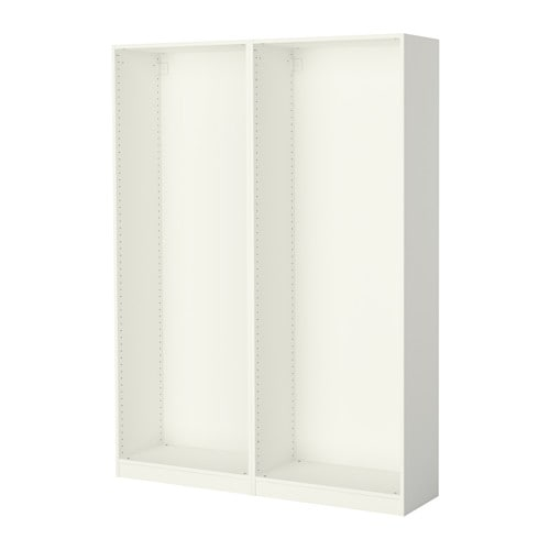 Pax 2 caissons armoire blanc ikea for Systeme porte coulissante ikea
