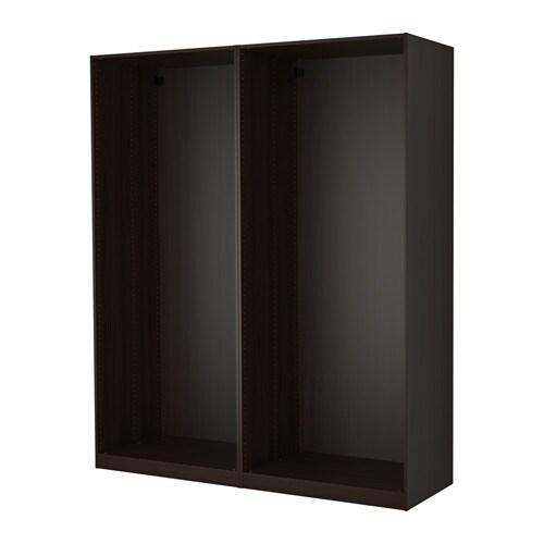 Pax 2 caissons armoire brun noir ikea - Systeme porte coulissante ikea ...