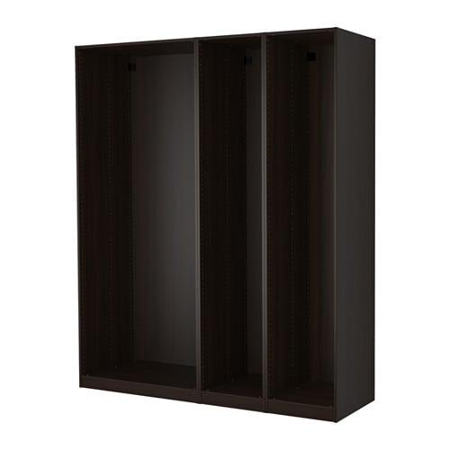 pax 3 caissons armoire brun noir ikea. Black Bedroom Furniture Sets. Home Design Ideas