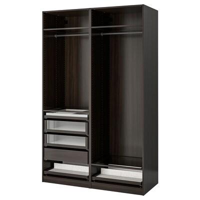 PAX Combinaison armoire, brun noir, 150x58x236 cm