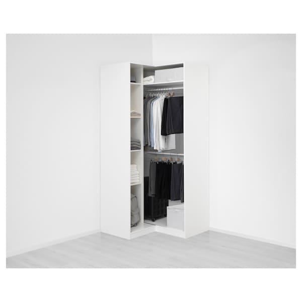 Armoire d'angle d'angle PAX Armoire blancGrimo PAX blancGrimo blanc nwvON80ym