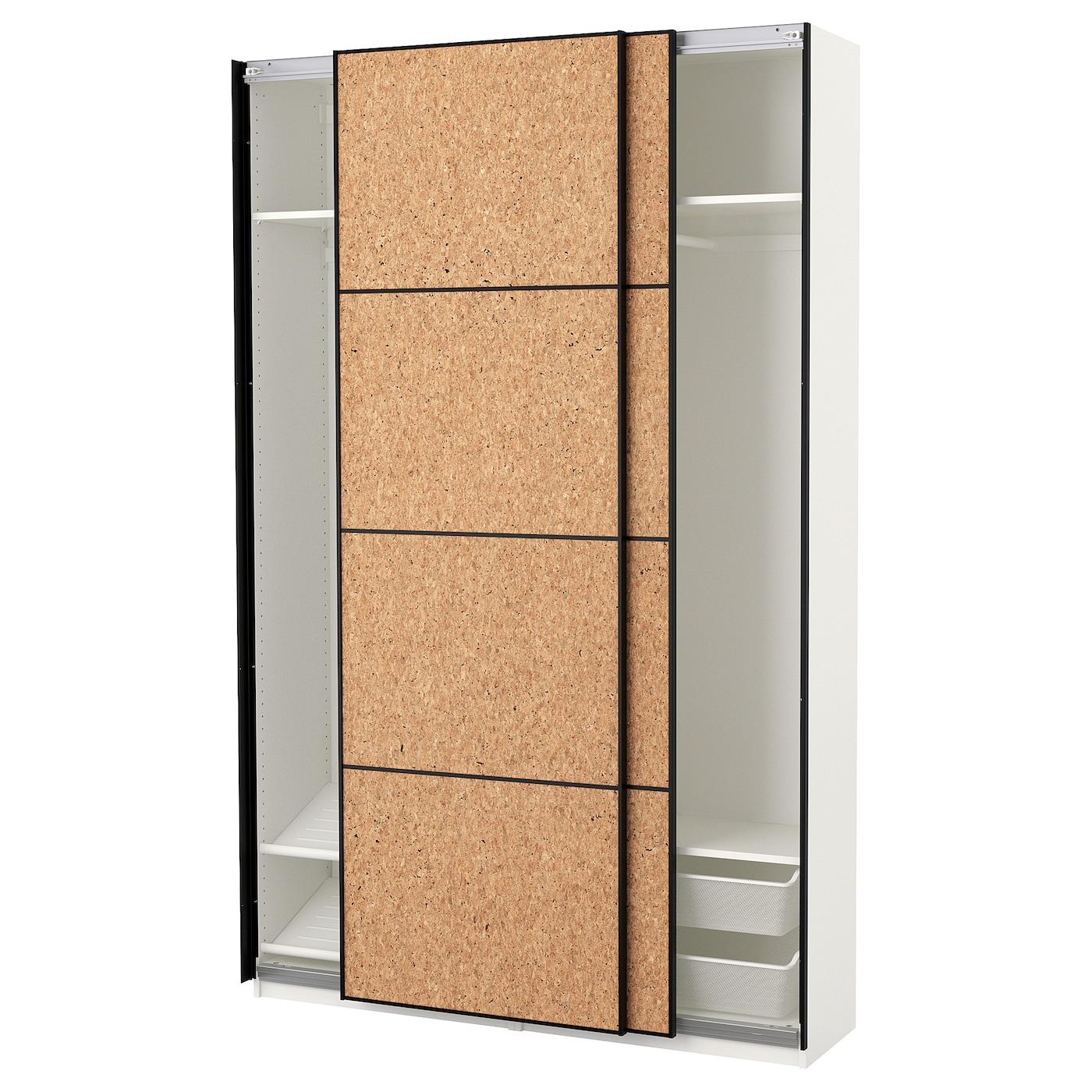 Panneau En Liège Ikea pax armoire-penderie - blanc, kirkenes placage de liège 150x44x236 cm