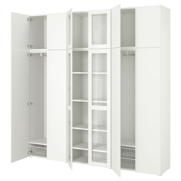 PLATSA Combinaison rangement av 12 portes, blanc/Fonnes Värd, 240x42x241 cm
