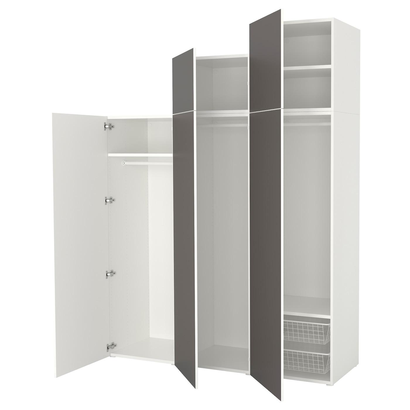 Penderie Pour Chambre Mansardée platsa armoire-penderie - blanc, skatval gris foncé 180x57x241 cm