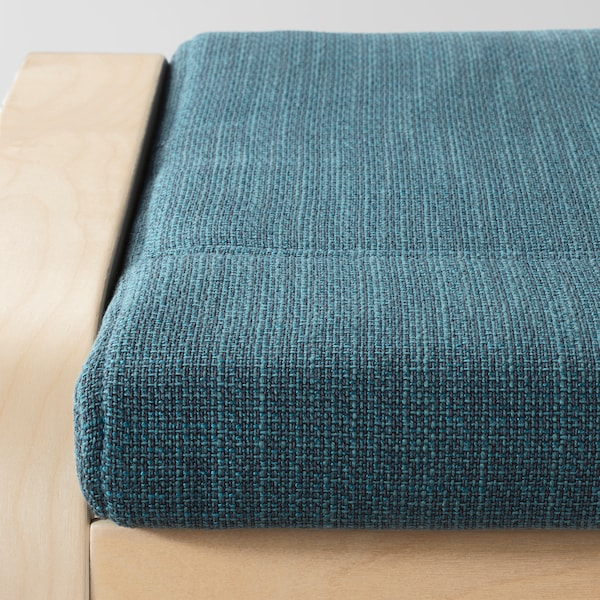POÄNG Repose-pieds, plaqué bouleau/Hillared bleu foncé