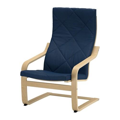 Po ng coussin fauteuil edum bleu fonc ikea - Housse coussin fauteuil ...