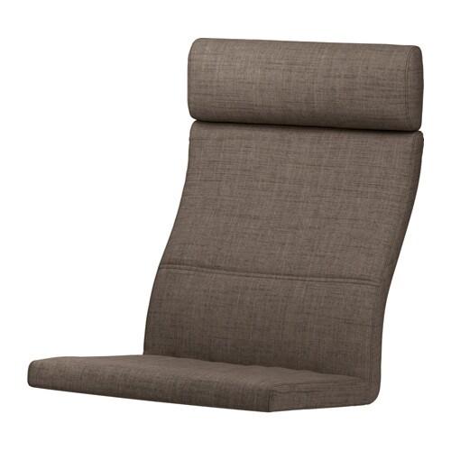 po ng coussin fauteuil isunda brun ikea. Black Bedroom Furniture Sets. Home Design Ideas