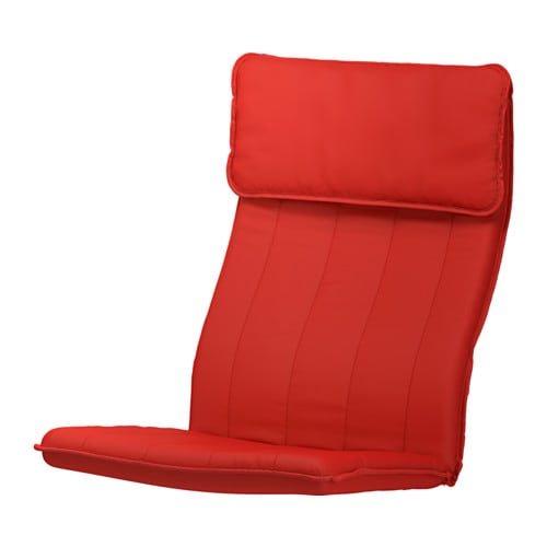 Po ng coussin fauteuil ransta rouge ikea for Coussin fauteuil jardin ikea