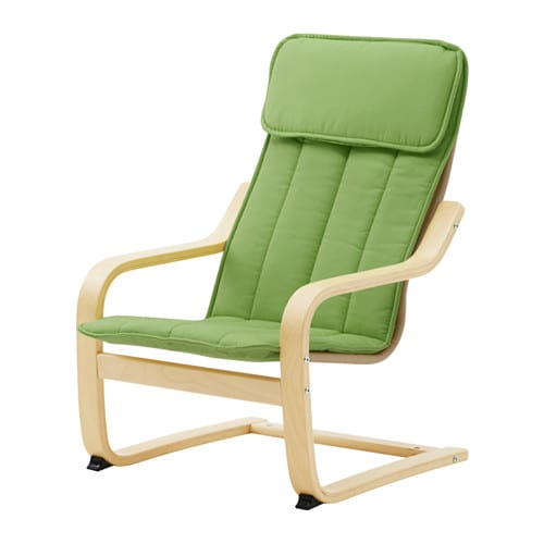 Po ng coussin pour fauteuil enfant alm s vert ikea - Coussin fauteuil ikea ...