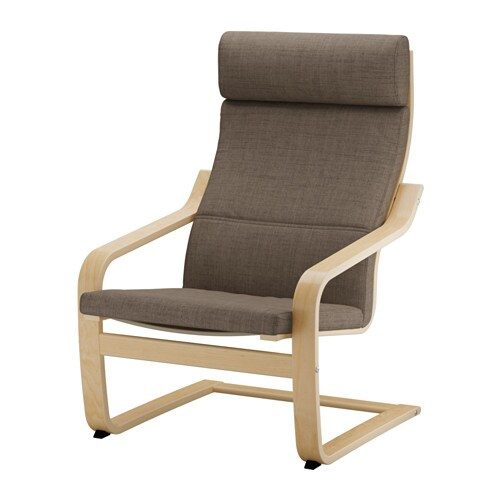 Po ng fauteuil isunda brun ikea - Housse poang ikea ...