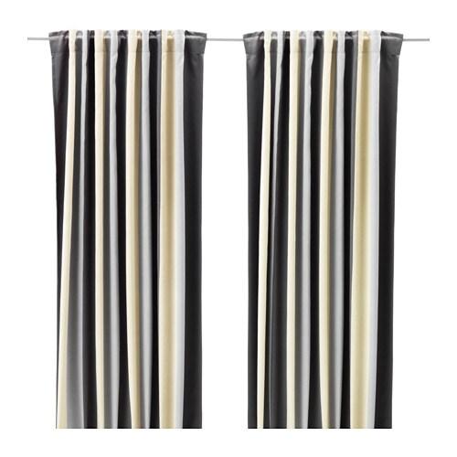 praktlilja rideaux occultant 1 paire ikea. Black Bedroom Furniture Sets. Home Design Ideas