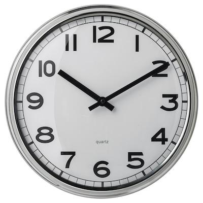 PUGG Horloge murale, acier inoxydable