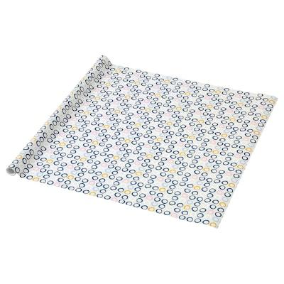 PURKEN Papier cadeau, à cercles, 3.0x0.7 m