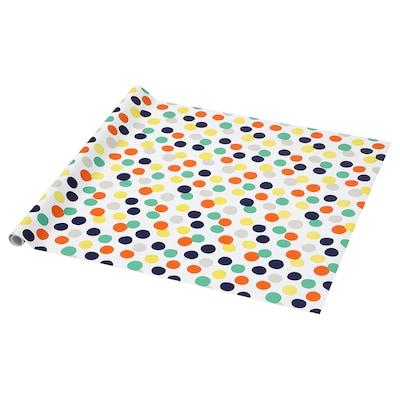 PURKEN Papier cadeau, multicolore/Points, 3.0x0.7 m