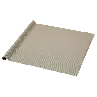 PURKEN Papier cadeau, vert/rayure, 3.0x0.7 m