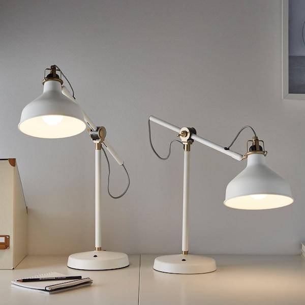RANARP Lampe de bureau, blanc cassé