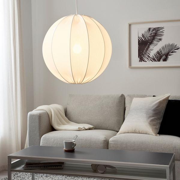 REGNSKUR Abat-jour suspension, rond blanc, 50 cm