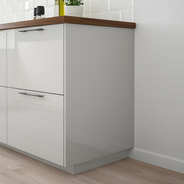 RINGHULT Panneau latéral de finition, brillant gris clair, 62x240 cm