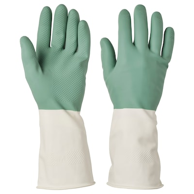 RINNIG Gants de ménage, vert, M