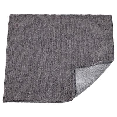 RINNIG Lavette, gris, 25x25 cm