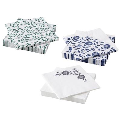 ROSENHÄTTA Serviettes en papier, coloris assortis, 33x33 cm