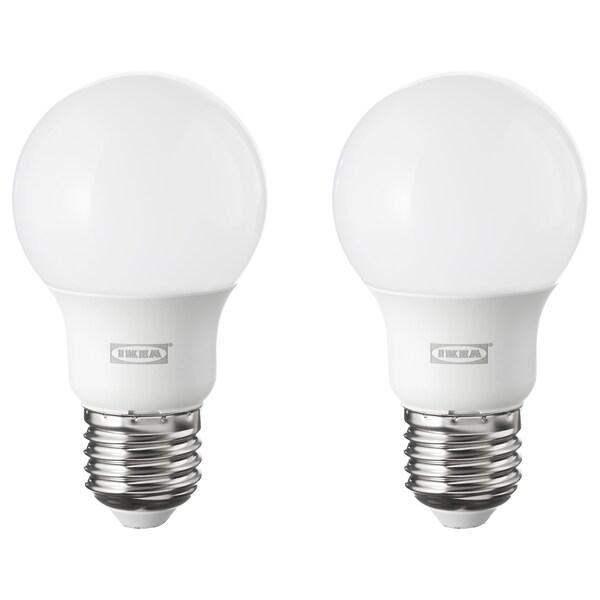 RYET ampoule LED E27 600 lumen globe opalin 2700 Kelvin 600 lm 6.0 W 2 pièces