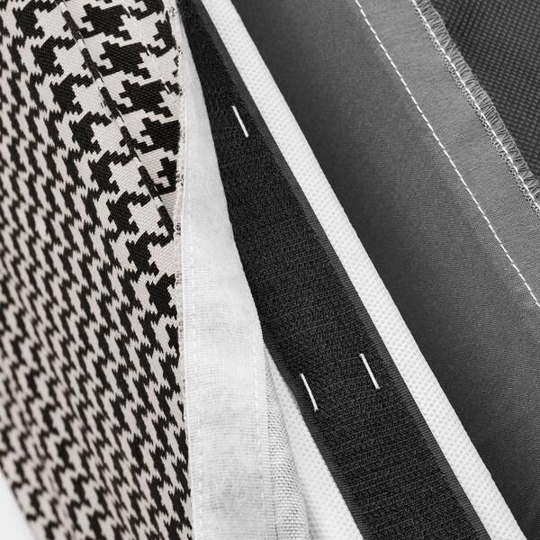 SAKARIAS Chaise à accoudoirs, noir/Vibberbo