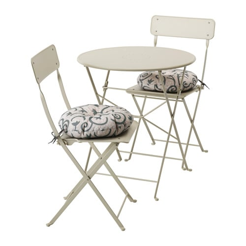 saltholmen table 2 chaises pliantes ext rieur saltholmen beige steg n beige ikea. Black Bedroom Furniture Sets. Home Design Ideas