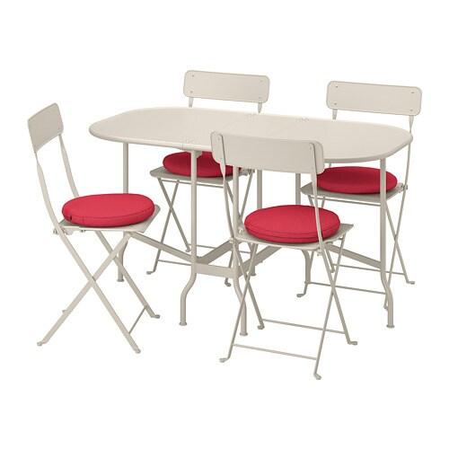 SALTHOLMEN Table pliante + 4 chaises, ext - Saltholmen ...