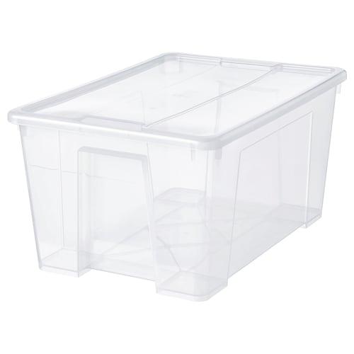 IKEA SAMLA Boîte avec couvercle