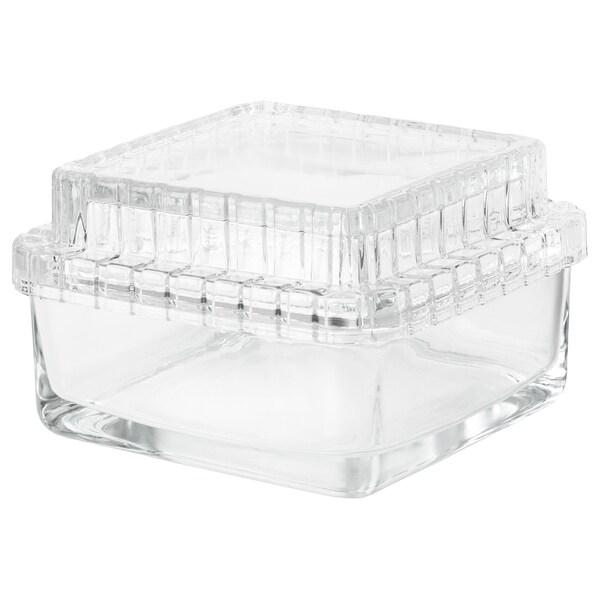SAMMANHANG Boîte d'exposition avec couvercle, verre transparent, 13x13x8 cm
