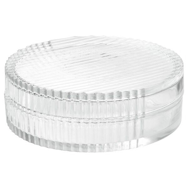 SAMMANHANG Boîte d'exposition avec couvercle, verre transparent, 6 cm