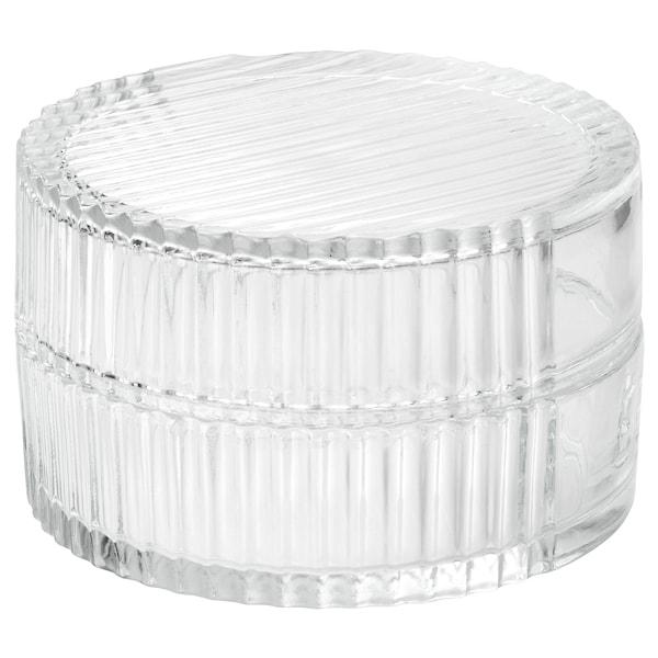 SAMMANHANG Boîte d'exposition avec couvercle, verre transparent, 8 cm