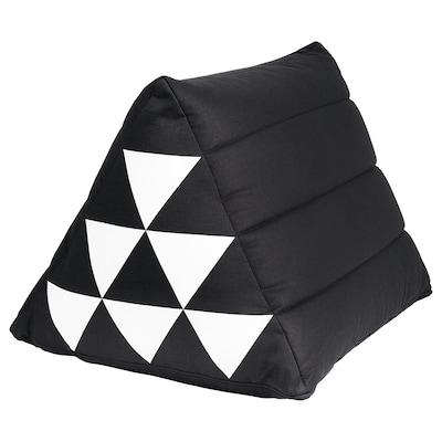 SAMMANKOPPLA Coussin, triangulaire noir/blanc, 50x40 cm