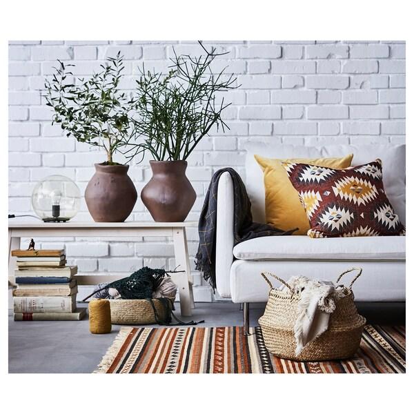 SANELA housse de coussin brun doré 50 cm 50 cm